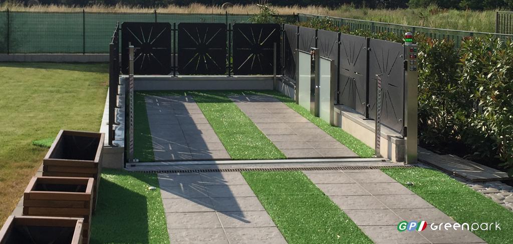 Pianale erba sintetica Green Park per piattaforma, ascensori per auto e montauto