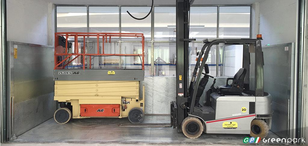 montacarichi per merci green park azienda muletto montauto ascensore per auto bergamo brescia
