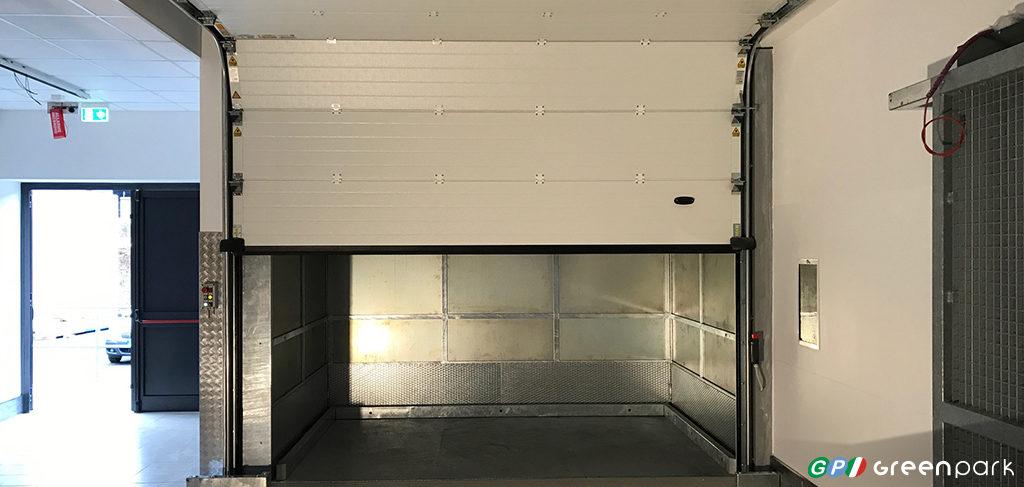 montacarichi per merci green park azienda montauto ascensore per auto bergamo brescia